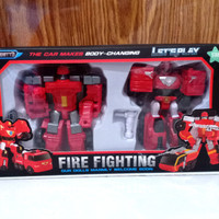 robot tobot 3 fire fighting