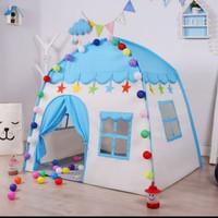 Tenda Anak MOdel Rumah RS66 BIRU Tenda Bermain Princess Castle Outdoor