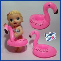 Pelampung Renang Watermelon Semangka Flaminggo Buat Boneka Baby Alive