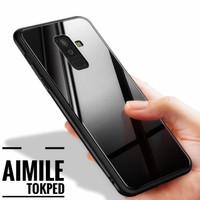 Oppo F5 Back Case Cover Glass Anti Baret Black Glass