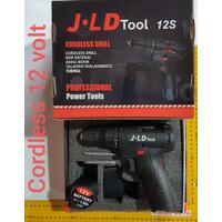 Bor 1 Baterai JLD Hitam 12S Cordless Drill