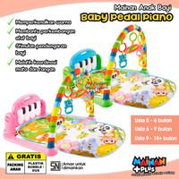 Mainan Bayi Newborn Playmat Piano Fitness Rack Baby Pedal Piano SNI