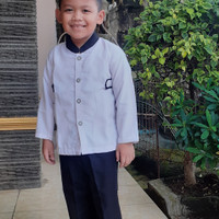baju koko anak laki laki usia 4 tahun model setelan jas - no 13
