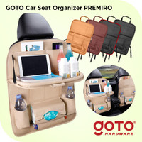 Goto Premiro Car Seat Organizer Leather Tas Jok Kursi Mobil Meja Kulit