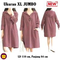 LM 15052 Baju Atasan Wanita TUNIK HOODIE KATUN JEPANG Tunic TERMURAH