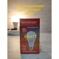 Hinomaru lampu led bulb 3 watt HIN-D8003 3W KUNING 3000K warm white