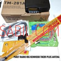 RADIO RIG KENWOOD TM281 TM-281A VHF PLUS PAKET ANTENA MOBIL BRACKET