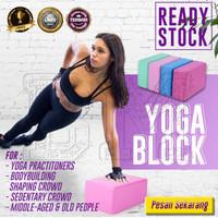 Yoga Block/Yoga Balok Bantalan Yoga Pilates Foam Padat Lembut
