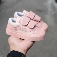Sepatu anak vans oldskool peach perekat premium 21 - 35