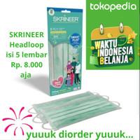 Masker Medis Headloop Hijab Skrineer 3ply Surgical Mask 1pack isi 5pcs