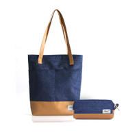 Paket Totebag & Kotak Pensil Harvest Classic Denim