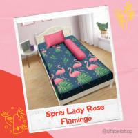 Sprei Lady Rose 100x200 / 160x200 / 180x200 Bed Cover Motif Flamingo