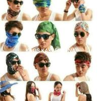 Bandana multifungsi/masker berkendara/scarf/penutup kepala serbaguna
