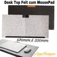 Desk Top Felt Keyboard Laptop Table Cover cum Mousepad