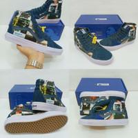 Vans Sk8 City Astrak Blue Premium Dt China Sepatu Pria Wanita Vans