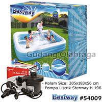 Bestway 54009 Kolam Renang Anak Keluarga Besar 305 cm + Pompa Listrik