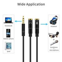 Audio Splitter aux 3.5mm male to dual female / Kabel spliter audio mic