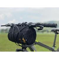 Tas Sepeda Tabung Stang Waterproof - Hitam