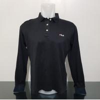 Baju Polo Fila Black - Italy - Size XL - Lebar Dada 56 cm - Ori Bekas