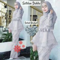 setelan kebaya modern baju muslim rok maxi wanita pesta seragam mewah