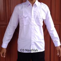 Baju PDH Putih Lengan Panjang Harga Grosir