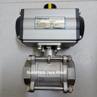 Ball Valve Pneumatic Actuator Stainless Drat 1  inchi DN 25