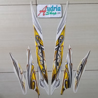 Stiker Striping Motor Yamaha Mio Sporty 2010 Putih-Gold