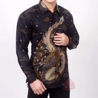 kemeja batik motif Naga baju batik lengan panjang
