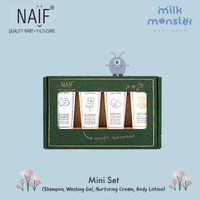 Naif Baby Mini Set (wash gel, shampoo, nurturing cream, body lotion)