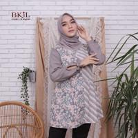 Baju Wanita Blouse Kombinasi Batik Soft Terbaru