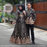 setelan baju copel Gamis batik semi sutera code 2902 ori good quality