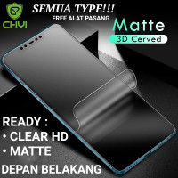 XIAOMI MI 8 MI8 HYDROGEL MATTE ANTI GORES Non Tempered Glass - CLEAR HD, BELAKANG