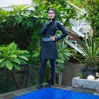 Baju Renang Wanita Muslim Muslimah Dewasa Slimfit Sporte SP-22 - DarkGrey, L