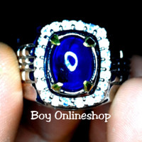 Cincin Batu Permata Natural Blue Sapphire - Natural Blue Safir