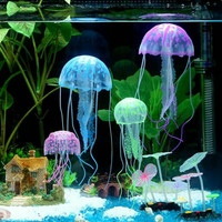 cumi ubur dekorasi akuarium per 6 pc-jellyfish-hiasan aksesoris akuari