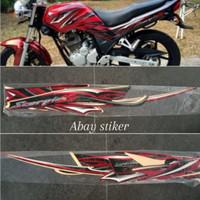 striping stiker tangki & list body Yamaha Scorpio z 2010 warna merah