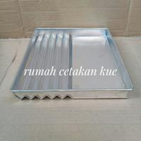 loyang bolu gulung 1/2 zig-zag/ loyang kue bolu lapis/zig-zag 31×27cm