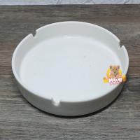 Asbak keramik Bulat putih POLOS JUMBO 5inch asbak besar keramik 12.5cm