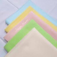 Bakal Bahan Kain Warna Pastel pink kuning hijau biru muda merek Avano