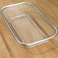 Food Strainer Basket Colander/Wadah Gorengan saringan kotak 30x22x6,5c