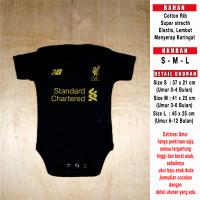 Baju Bola Bayi Baby Romper Bayi Baby Jumper Bayi Liverpool Hitam GK - S