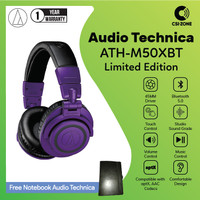 Audio Technica ATH-M50XBT Wireless Over Ear Headphone - Purple Limited