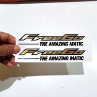 stiker yamaha freego gold edition cutting sticker yamaha motor matic