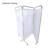BED SCREEN 3 BIDANG | PEMBATAS RUANGAN PASIEN BAHAN STAINLESS STEEL 06