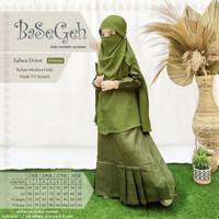 Salwa Green Baju Muslim Gamis Cadar Anak Basegeh