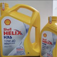 Oli Shell Helix HX6 4L 10w/40 100%jamin asli kemasan 4Liter