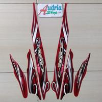 Stiker Striping Motor Yamaha Mio Sporty 2010 Merah