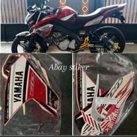 striping stiker tangki list body Yamaha Vixion 2014 moto GP merah