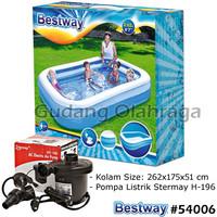Bestway 54006 Kolam Renang Anak Keluarga Besar 262 cm + Pompa Listrik