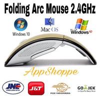MOUSE WIRELESS ARC FOLDING USB 2.4Ghz GOLD
